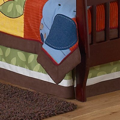 Jungle Time Toddler Bed Skirt by Sweet Jojo Designs