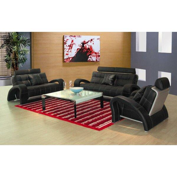 Arthur Leather 3 Piece Living Room Set by Hokku Designs