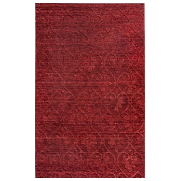 Pasaia Hand-Loomed Red Area Rug by Meridian Rugmakers