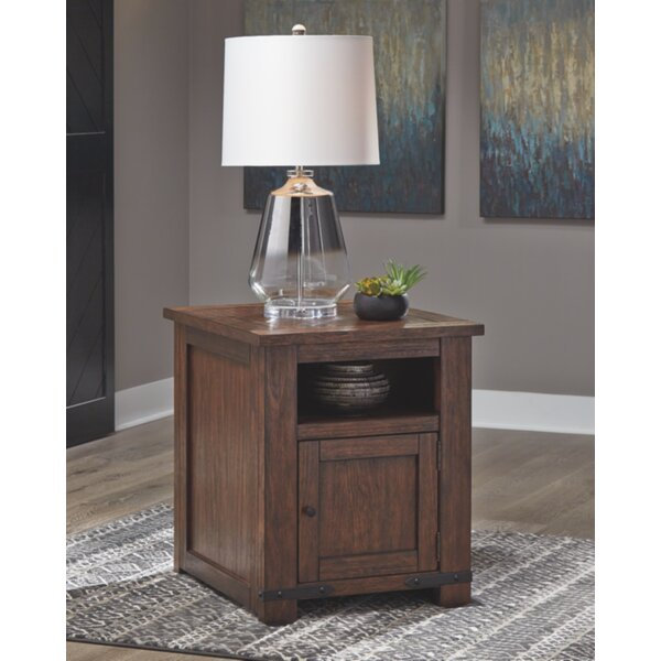 Dumont End Table With Storage By Millwood Pines