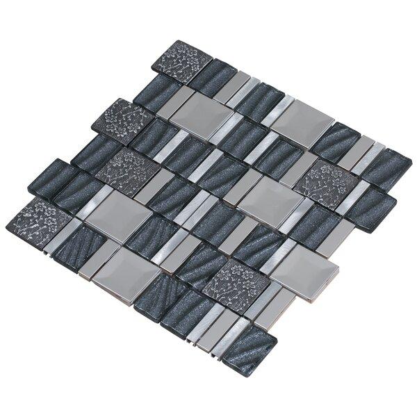 Vitray 12 x 12 Mixed Material Mosaic Tile in Gray by Mirrella