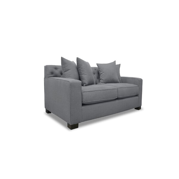 Tagen Plush Deep Loveseat by Latitude Run
