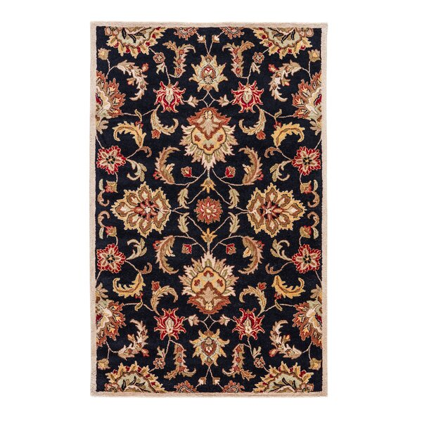 Thornhill Black/Tan Area Rug by Charlton Home