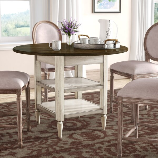 Baleine Drop Leaf Dining Table by Lark Manor