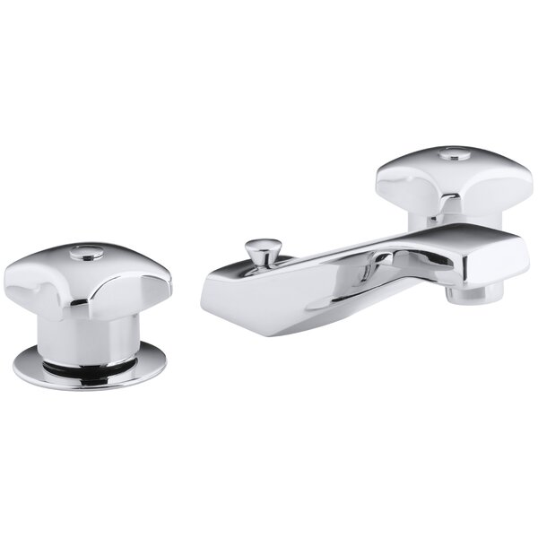 Triton Widespread Commercial Bathroom Sink Faucet with Standard Handles, Pop-Up Drain and 5 Standard Spout by Kohler