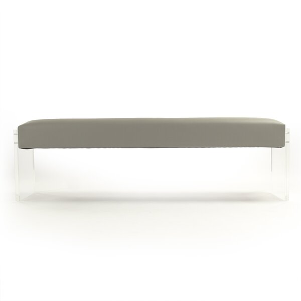 Larosa Acrylic Upholstered Bench by Everly Quinn