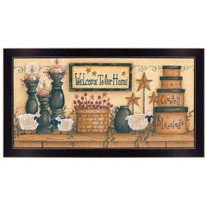 'Welcome to Our Home' Framed Graphic Art Print by Trendy Decor 4U