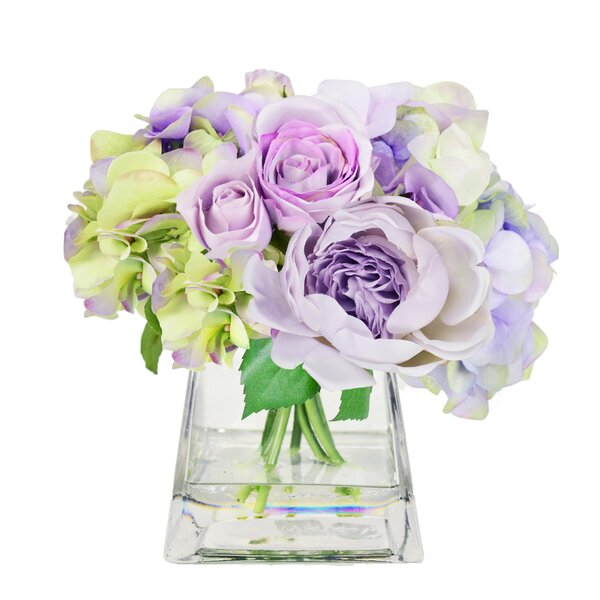 Lavender Peony and Rose Bouquet by Rosdorf Park
