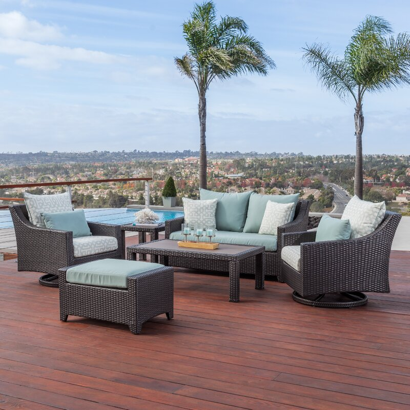 Northridge 6 Piece Deep Sunbrella Seating Group With Cushions