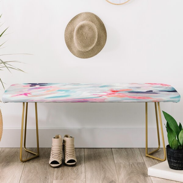 Stephanie Corfee Faux Leather bench by East Urban Home East Urban Home