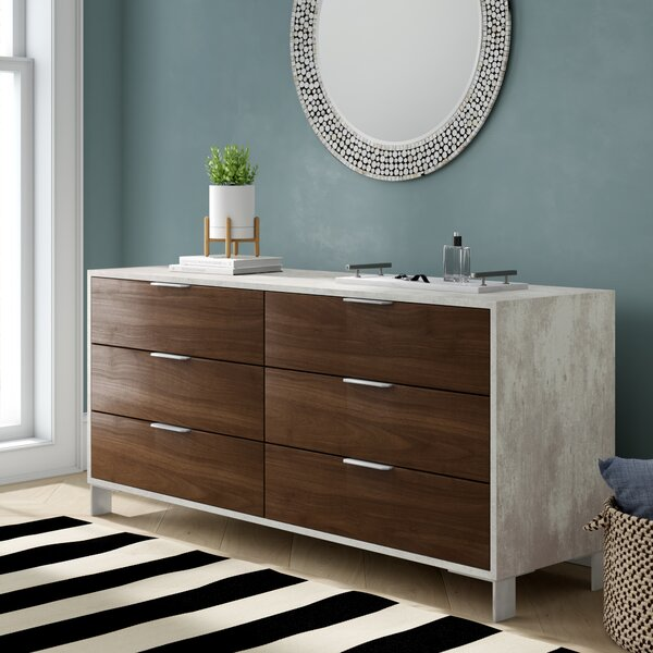 Lipscomb 6 Drawer Double Dresser by Brayden Studio