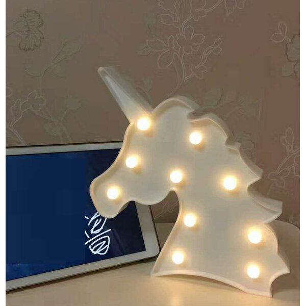 Kiker Unicorn 10 Table Lamp by Zoomie Kids