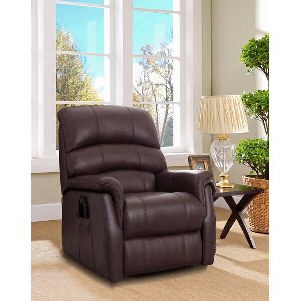 Perrault Leather Power Lift Assist Recliner by Winston Porter Winston Porter