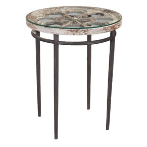Morgana Round End Table by Bungalow Rose