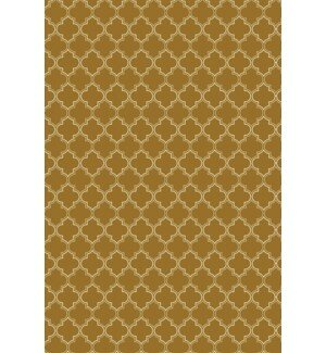 Fitzgerald Quaterfoil Design Brown/White Indoor/Outdoor Area Rug by Winston Porter