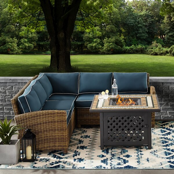 Lawson 4-Piece Sectional Seating Group with Cushions by Birch Lane Heritage Birch Lane™ Heritage