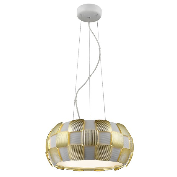 Chadstone 5 - Light Shaded Drum Chandelier by Wade Logan Wade Logan