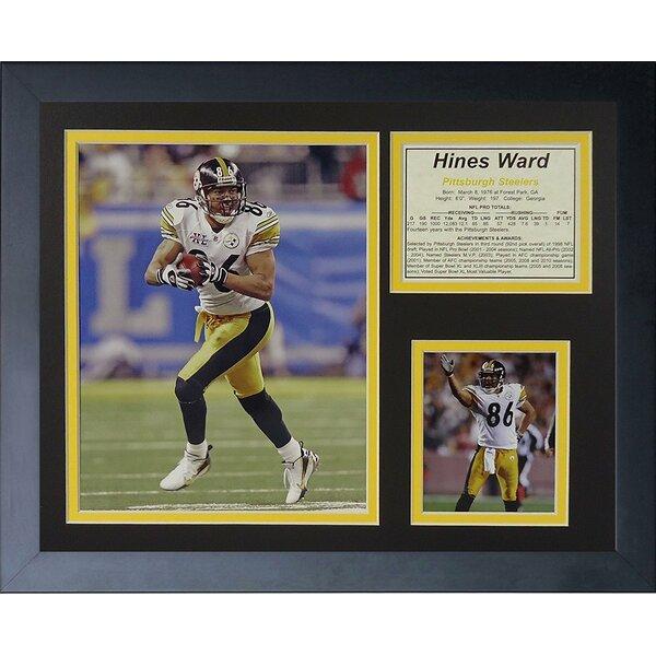 Hines Ward Away Framed Memorabilia by Legends Never Die