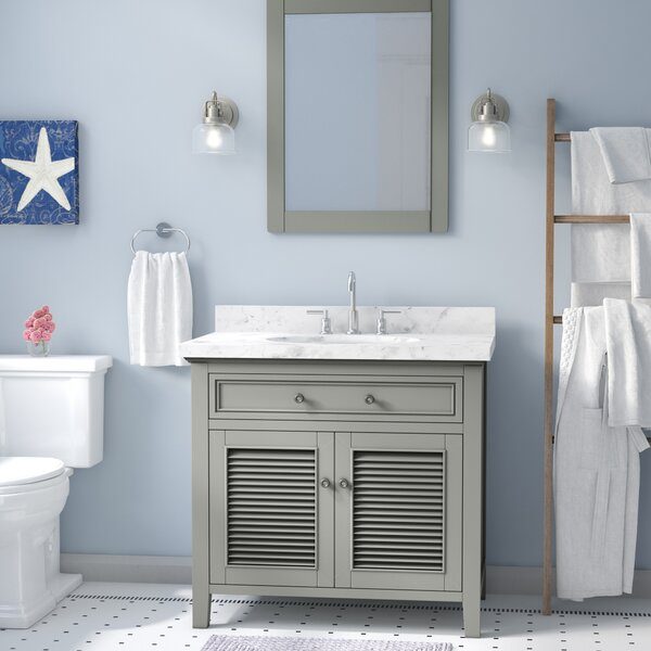 Davisboro Solid Wood 37 Single Bathroom Vanity Set with Mirror
