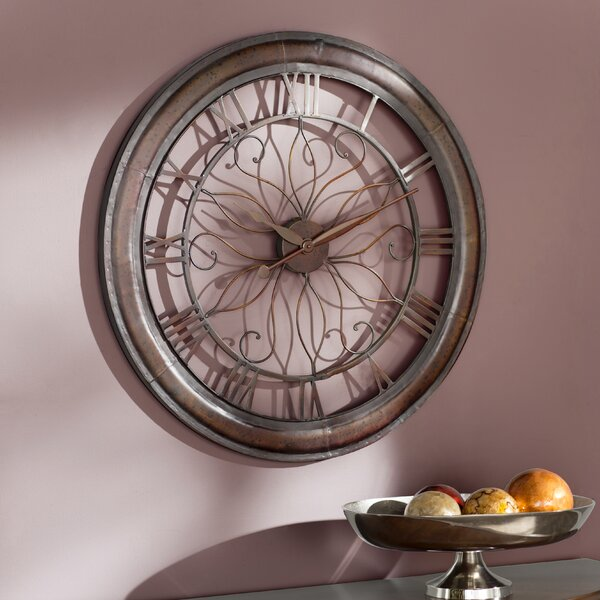 Evans Oversized 30.25 Wall Clock by Darby Home Co