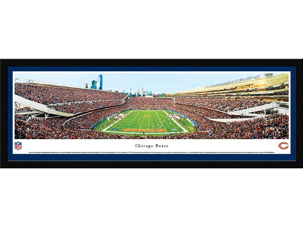 NFL Chicago Bears - End Zone by James Blakeway Framed Photographic Print by Blakeway Worldwide Panoramas, Inc