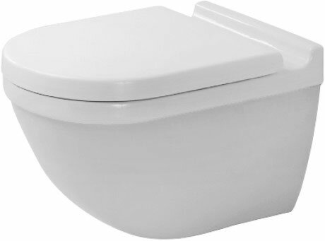Starck 3 1.28 GPF (Water Efficient) Elongated Wall Mounted Toilet with High Efficiency Flush (Seat Not Included) by Duravit