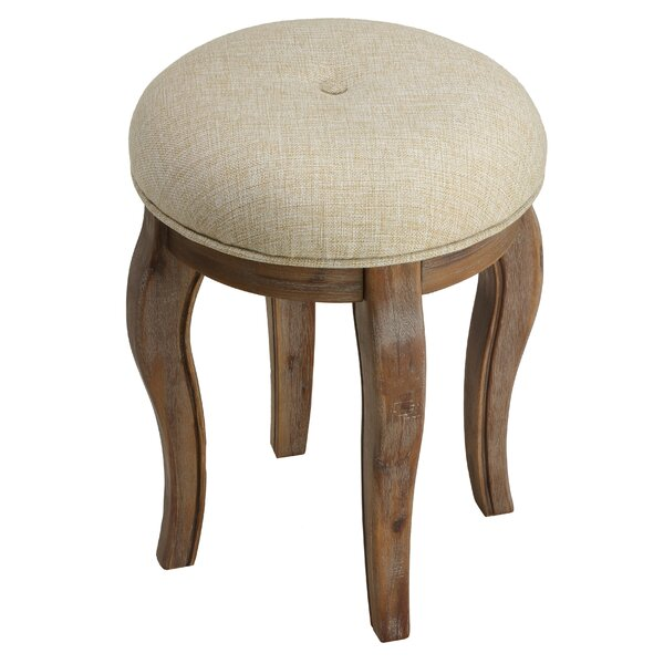 Sariah Round Vanity Stool by Ophelia & Co.