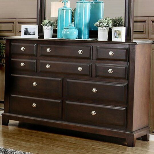 Cheryle 10 Drawer Dresser with Mirror by Darby Home Co