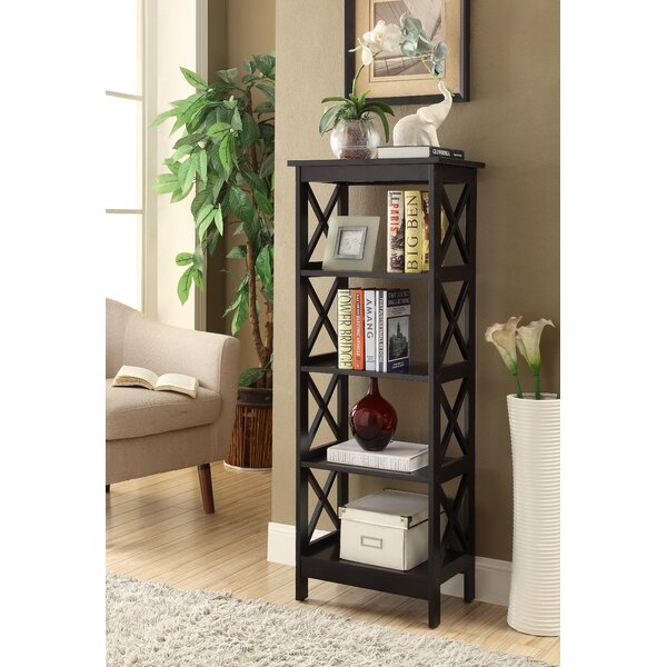 Traylor X-Sided Narrow Etagere Bookcase By Breakwater Bay