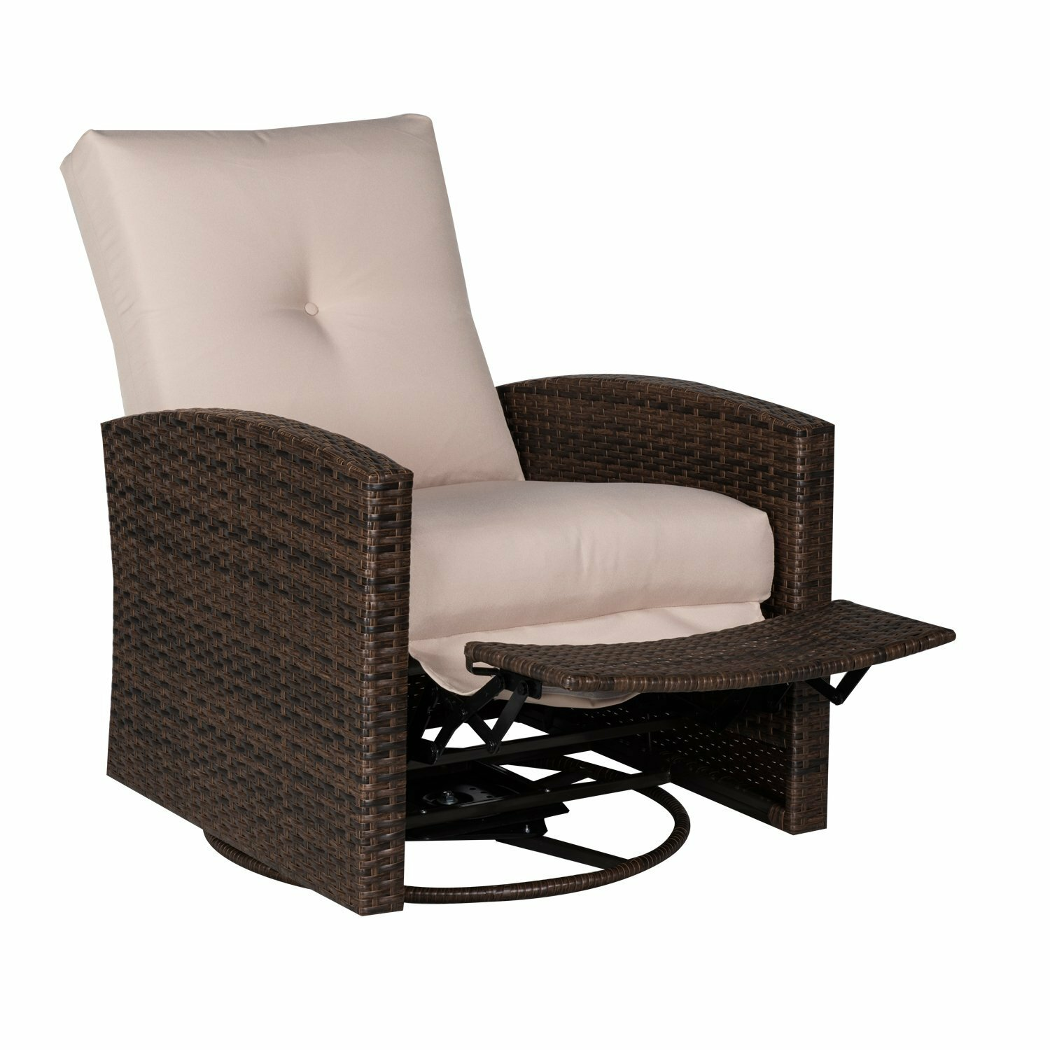 Outsunny Deluxe Swivel Patio Chair With