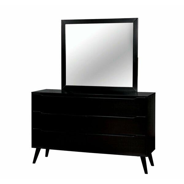 Vandervoort 6 Drawer Double Dresser wIith Mirror by Corrigan Studio