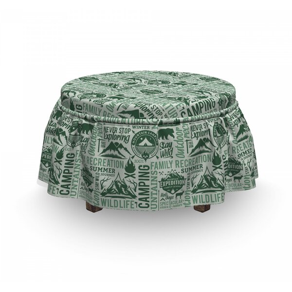 Outdoors Adventure Ottoman Slipcover (Set Of 2) By East Urban Home