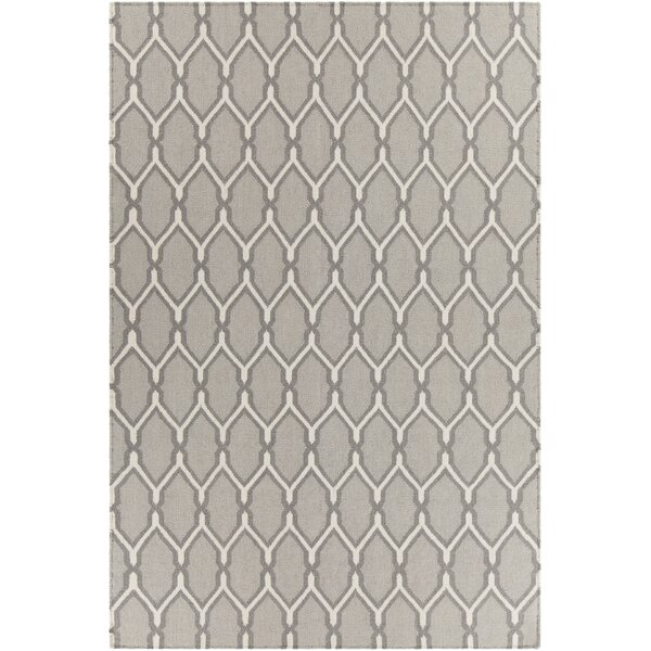 Antoinette Reversible Wool Gray Area Rug by Corrigan Studio