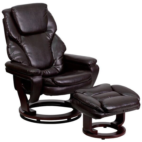 Robles Manual Swivel Recliner with Ottoman by Lati