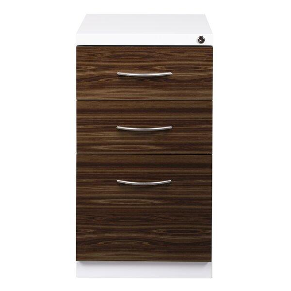 Zeigler Deep Pedestal 3-Drawer Mobile Vertical Filing Cabinet by Symple Stuff