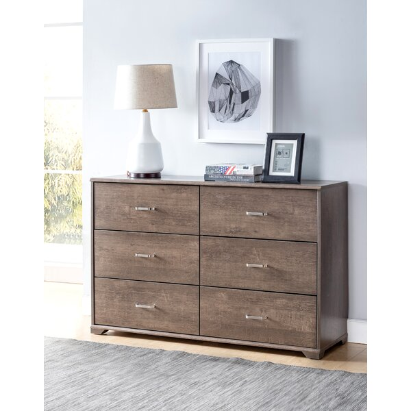 Kidwell 6 Drawer Double Dresser by Harriet Bee