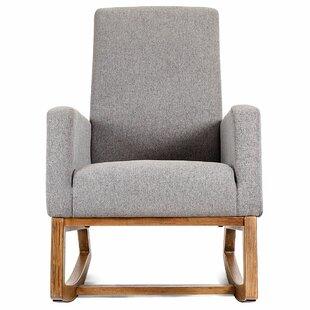 Raya Mid Century Upholstered Rocking Chair
