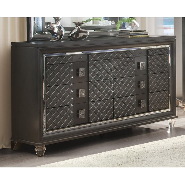 Sams 8 Drawer Double Dresser with Mirror by Everly Quinn
