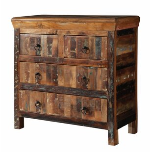 Mcelvain Reclaimed Wood 4 Drawer Accent Chest