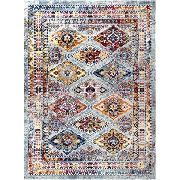 Vecchia Gray/Blue Area Rug by Bloomsbury Market