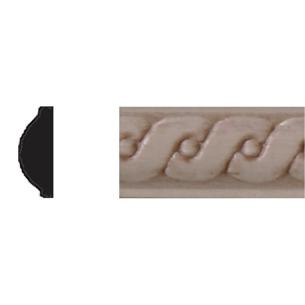 1/4 in. x 5/8 in. x 4 ft. Hardwood Running Coin Strip Moulding by Manor House