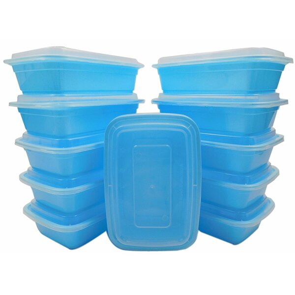 Lunch Boxes 240 Container Food Storage Set with Lid by Rebrilliant