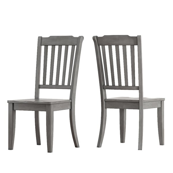 Back Bay Solid Wood Dining Chair (Set of 2) by Three Posts