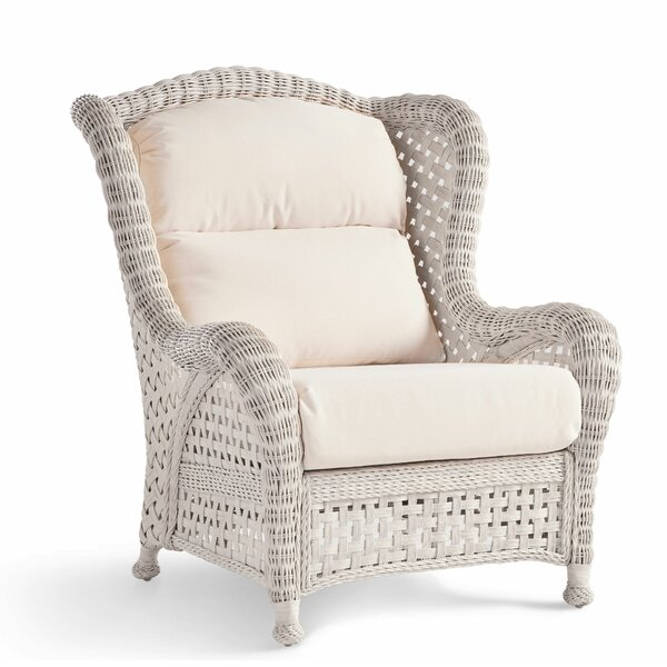Lila Wicker Armchair By Rosecliff Heights