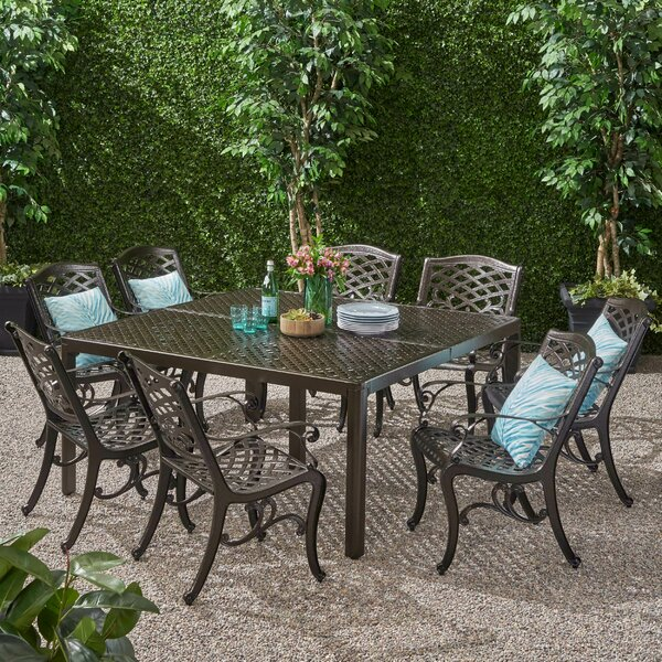 Cornejo Outdoor 9 Piece Dining Set by Darby Home Co