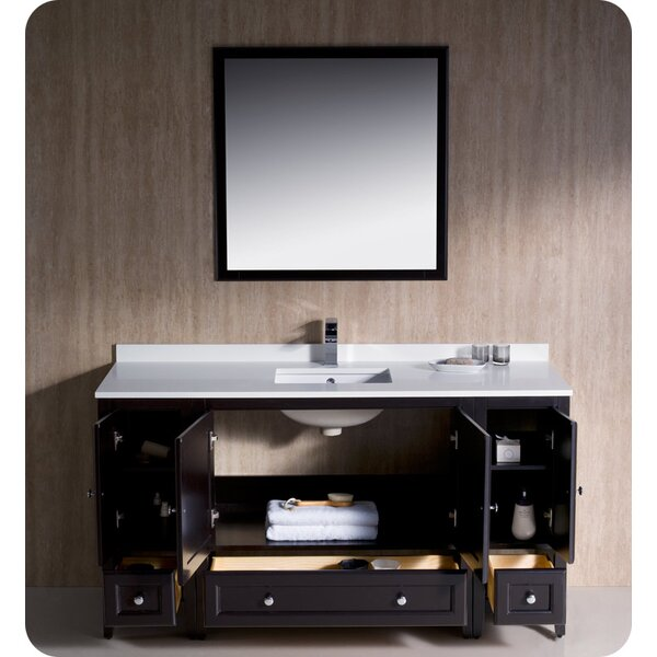 Oxford 60 Single Bathroom Vanity Set with Mirror by Fresca