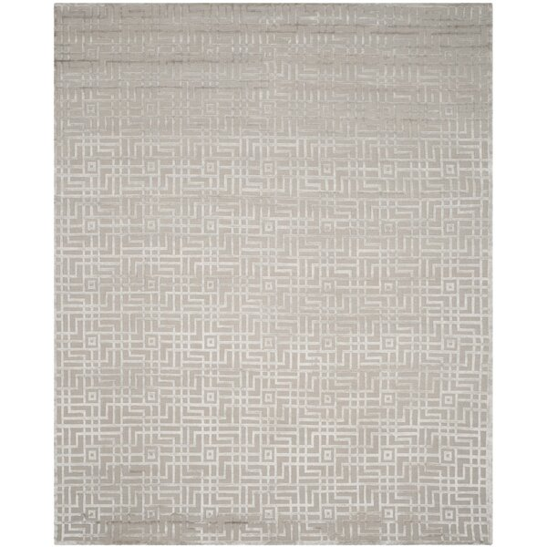 Ocellus Hand-Knotted Gray Area Rug by Brayden Studio