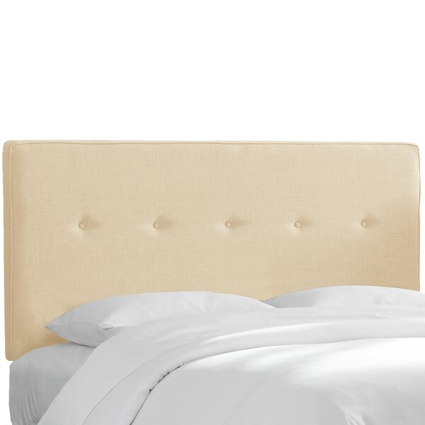 Monteiro Twill Upholstered Panel Headboard by Brayden Studio