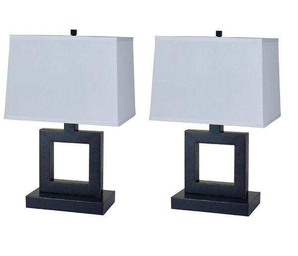 3 Way Metal 22 Table Lamp (Set of 2) by Latitude Run