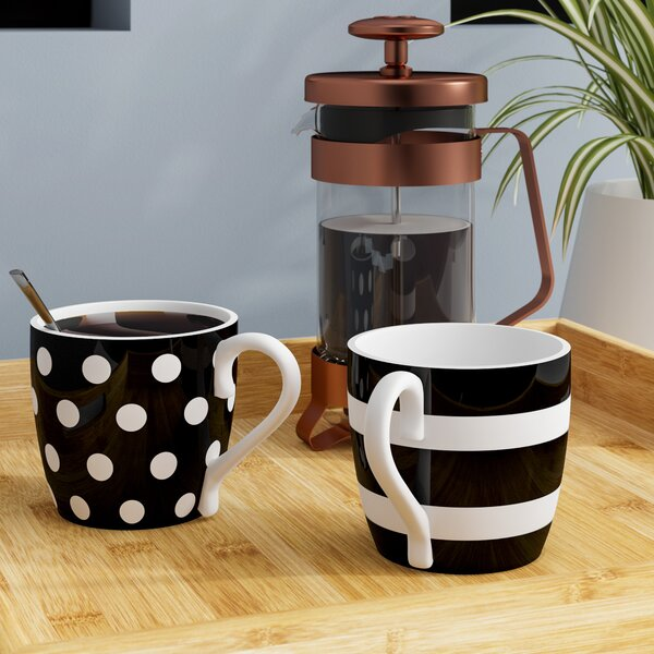 Stiltner Dots and Stripes Mug (Set of 2) by Brayden Studio